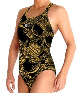 Waterpolo Gold Skull Woman