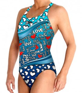 Waterpolo Blue Love Woman