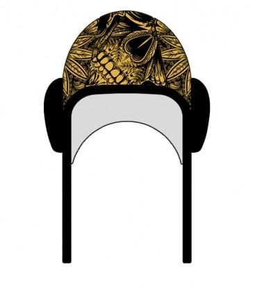 Waterpolo Cap Gold Skull