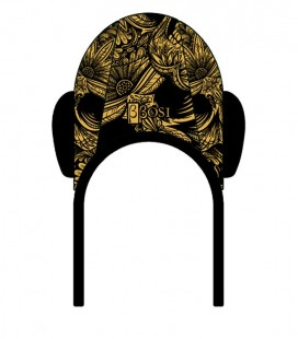 Waterpolo Cap Gold Skull