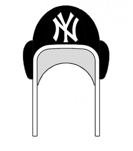 Waterpolo Cap NY Yankees Black