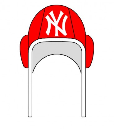 Waterpolo Cap NY Yankees Red