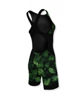 Woman Trisuit Leaves