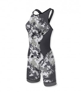 Woman Trisuit Camo Grey