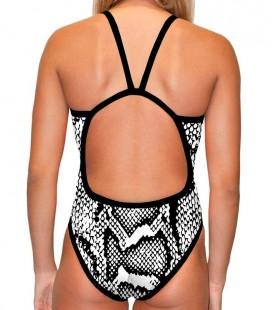 Classic Swimsuit Snake Black