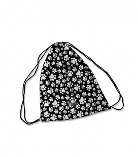 Backpack Dog Print Black