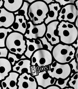Backpack Pattern Skull White