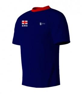 Running T-shirt England Blue