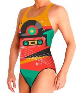 Waterpolo Retro Music Woman