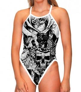 Classic Swimsuit Viking Skull